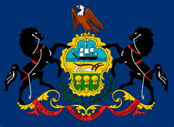 of pennsylvania colors pennsylvania state flag