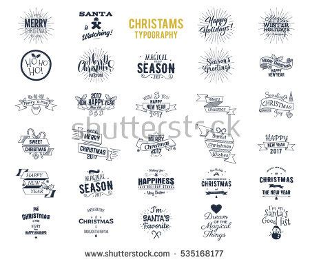 other terms for new year big bundle typography wishes stock vector