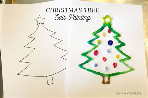 christmas tree salt painting