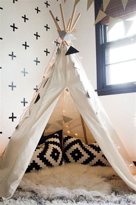 charming black and white teepee an interior stylist s