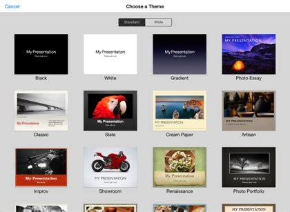 theme chooser keynote keynote for ios 2 x ipad vytvořen 237 a otevřen 237 prezentace