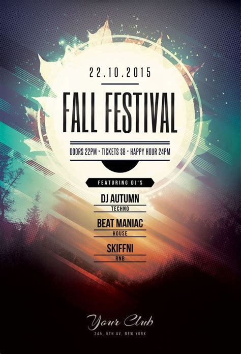 design poster new fall festival flyer by stylewish buy psd file 9