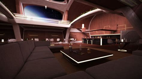 Futuristic Kitchen by 3d Workshop Luxurious Spaceship Interior By Stormxf3 On