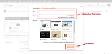 membuat blog gratis di google cara membuat blog gratis di blogspot tutorial seo