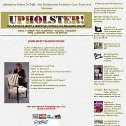 upholstery dvd upholstery occupations pearltrees