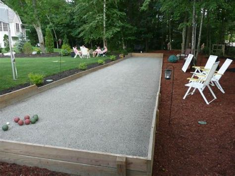 backyard bocce court court construction bocce garden thoughts pinterest