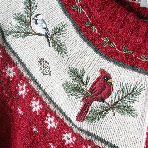 Sweater Cardinal cardinals fan nordic yoke sweater the