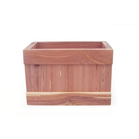 pennington 40 in x 12 in wood planter box 540 the home