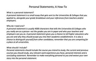 Personal Statement Essay For College Sle by Mystudyspot