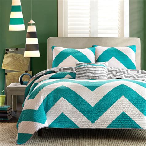 teal chevron bedding home dzine bedrooms gorgeous duvets and bedding for