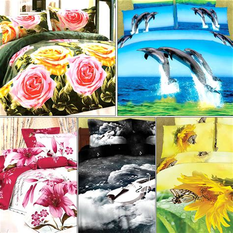 pillow covers and bed sheets buy set of 5 amazing 3d bed sheets with 10 pillow covers
