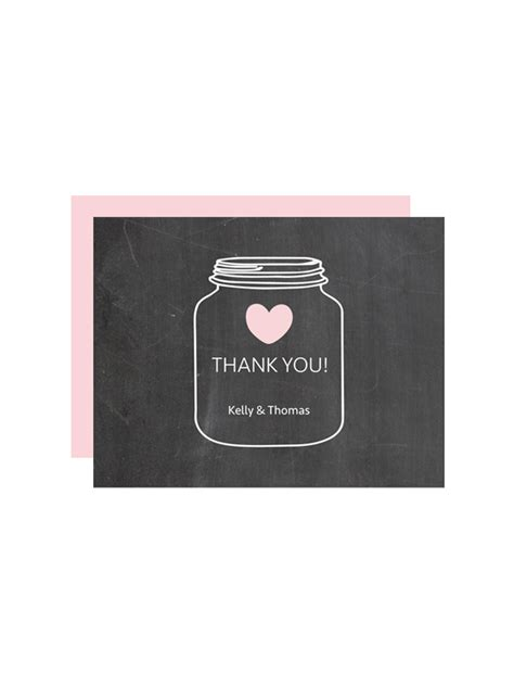 masonic dues card template jar chalkboard thank you cards chicfetti