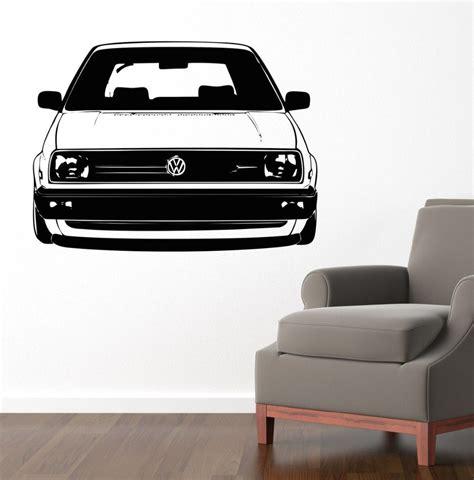 home decor vinyl high quality 58x80cm vw golf car decal bedroom wall