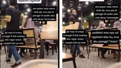 viral pelanggan kafe pesan makanan atas nama tarik sis