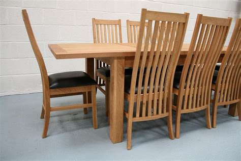 Oak Dining Table Chairs Lichfield Extending Dining Tables 8 Seater Oak Dining Table Set