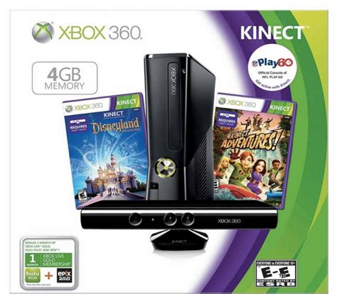 amazon xbox live xbox 360 console with kinect holiday bundle with bonuses