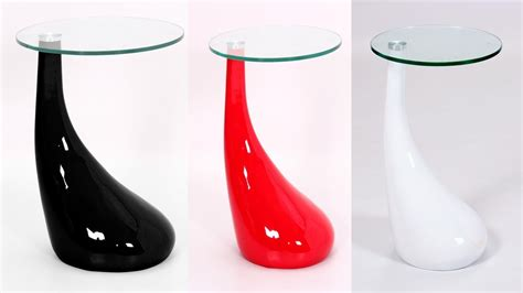 Dining Room Table Sizes White Red Black Glass High Gloss Side Table Homegenies