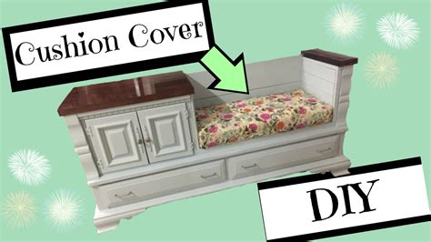 diy bench with cushion diy bench cushion with boxed corners youtube