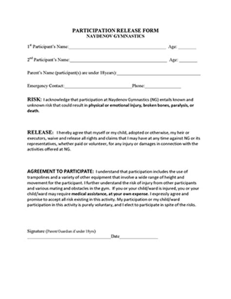 print release forms resume template sample