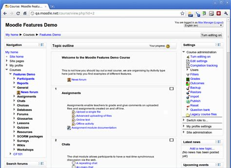 moodle theme standard a preview of the 15 standard themes included in moodle 2