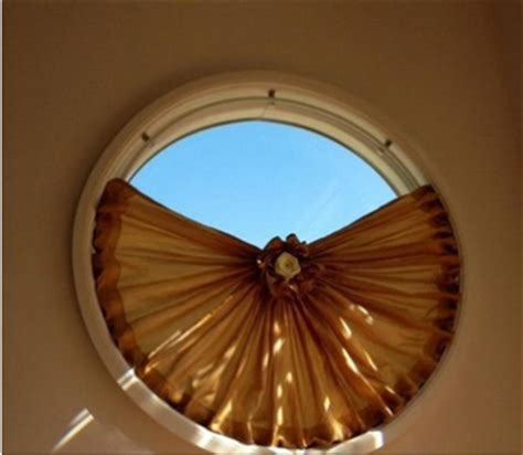 circular window coverings different ways to decorate the shaped windows