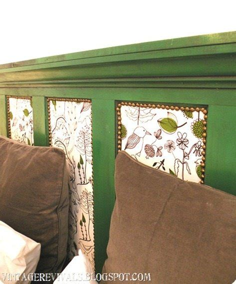 how to make a headboard from an old door vintage revivals epic room makeover old door into