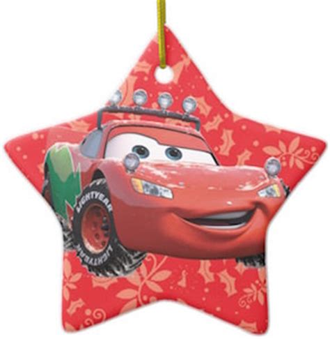 cars lightning mcqueen christmas ornament