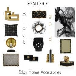 Black Home Decor Accessories by Zgallerie Edgy Black Amp Gold Home Accessories Design