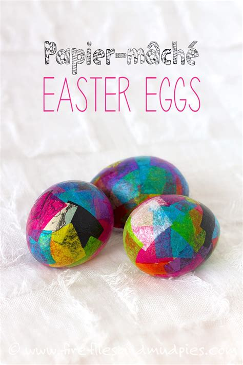 Easter Egg Paper Crafts - paper mache egg crafts
