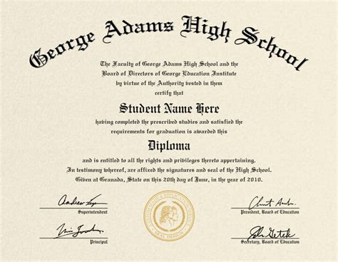 school diploma template diploma certificate with seal what an idea your mind