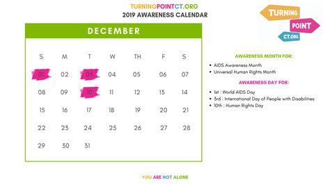 calendar  mental health awareness days  turning point ct