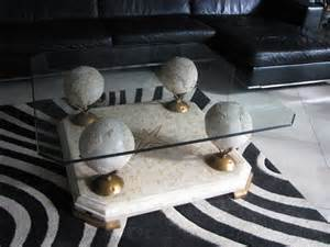 Glass And Marble Coffee Table 1960s Marble And Glass Coffee Table By Fournier For
