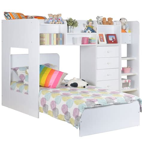 l shaped bunk beds wizard l shaped bunk bed in white beds