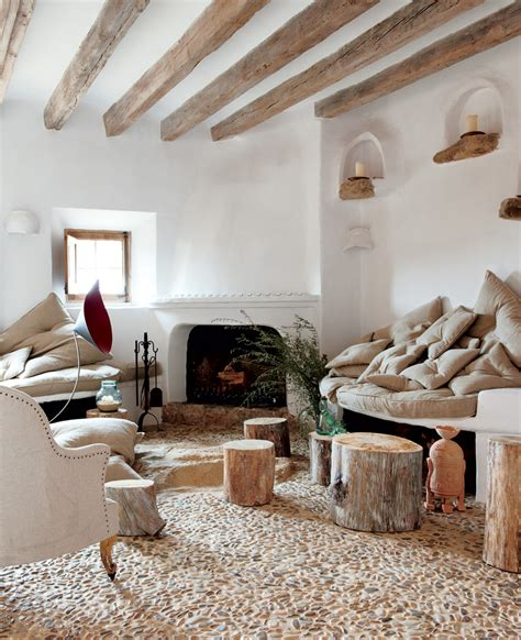 living room rustic coastal cave house of french designer alexandre de betak