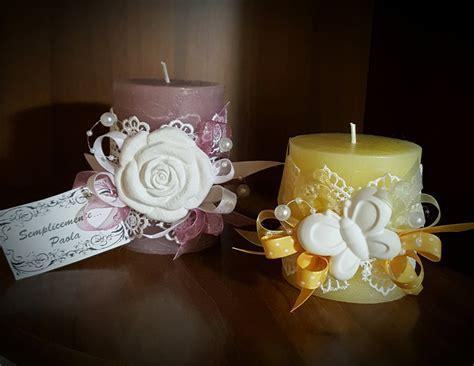 candele decorate candele decorate con gesso o stoffa per la casa e per te