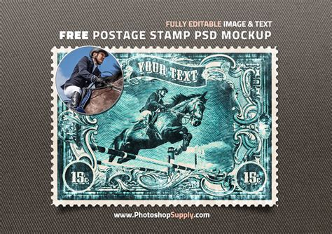 Old Postage St Psd Free Mockup Photoshop Supply Postage St Template Photoshop