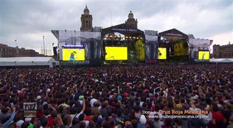 el concierto de san en vivo aqu 237 el concierto estamos unidos mexicanos por damnificados tiempo