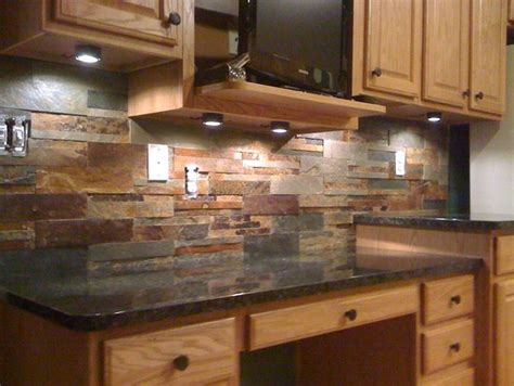 kitchen stone backsplash ideas rustic kitchen decoration using dark grey stone kitchen