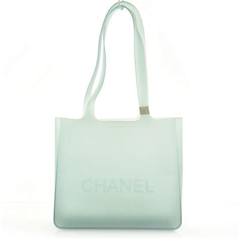 Chanel Clucth Jelly chanel jelly rubber tote green 27580