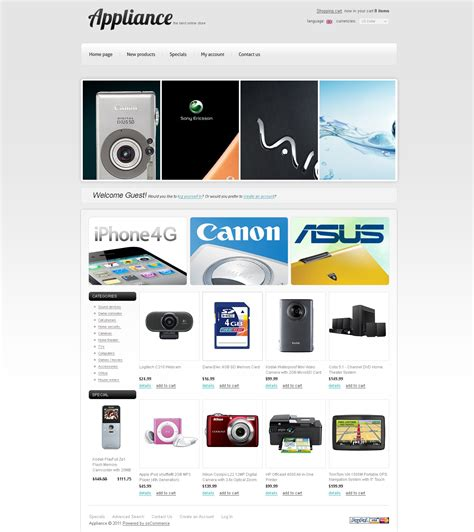 electronics store oscommerce template 35278