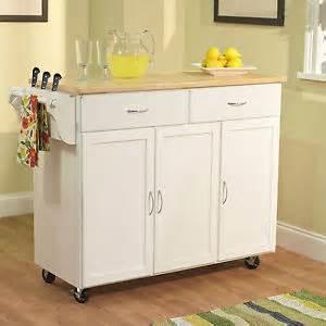 White Kitchen Cart Island by White Kitchen Island Cart Utility Rolling Cabinet Storage