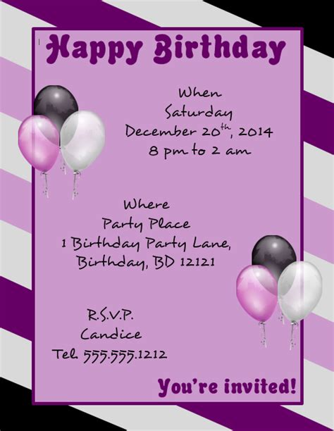 birthday flyer templates free a microsoft word template for a happy birthday