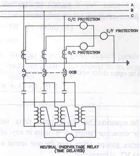 capacitor bank delta connected 3 phase delta connected motor 3 wiring diagram and circuit schematic