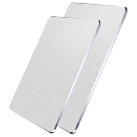 Metal Mouse Pad Rubber 240 X 180 X 3mm Silver metal mouse pad rubber 240 x 180 x 3mm silver
