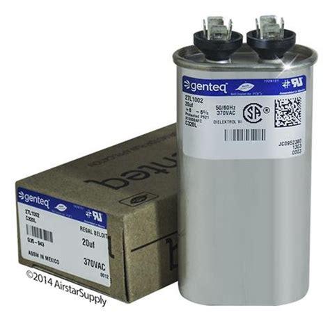 genteq ac capacitor genteq 97f9603 capacitor polypro metallized cap 20 uf tol 6 vol rtg 370 ac qc motor run