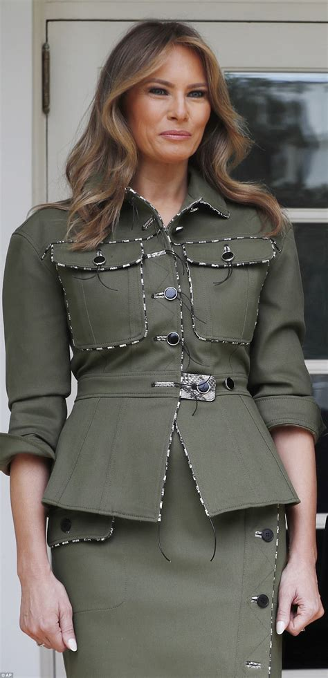 melania jacket melania wears edgy inspired suit daily