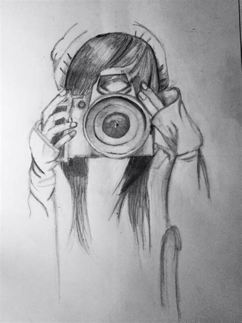 imagenes tumblr para dibujar hipster dibujo hipster chica haciendo fotografia dibujos