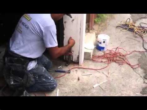 Garage Door Jamb Repair How To Repair A Termite Damaged Garage Door Jamb Part 3 Of
