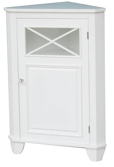 Small Cabinet Door Wedge Shaped White Wooden Small Cabinets With Doors And X Shaped Trellis For Corner Area Of