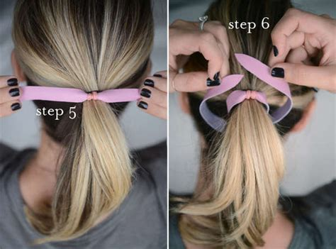 tying of hair diy rawhide hairbands leather hair tie